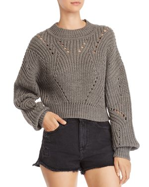 ASTR Carly Sweater In Grey in Gray