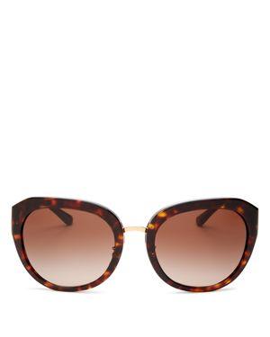 Irregular Reva 56Mm Sunglasses - Dark Tortoise Gradient