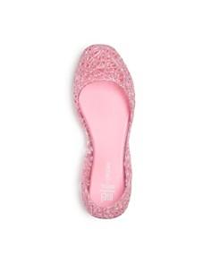 Mini Melissa - Girls' Campana Glitter Zigzag Flats - Toddler, Little Kid