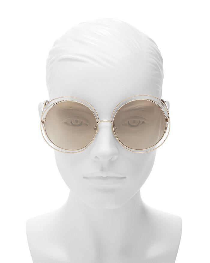 d76a767621 Women's Carlina Round Oversized Sunglasses, 62mm