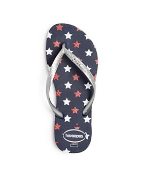 havaianas - Unisex Slim Stars Glitter Flip-Flops - Little Kid, Big Kid