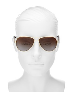 Tory Burch - Women's Polarized Aviator Sunglasses, 57mm
