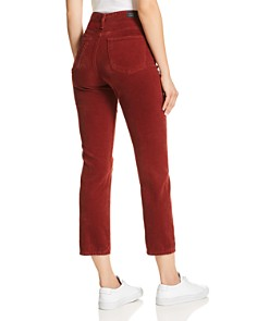 AG - Isabelle Straight Corduroy Jeans in Tannic Red