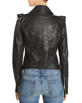 PAIGE - Annika Leather Moto Jacket