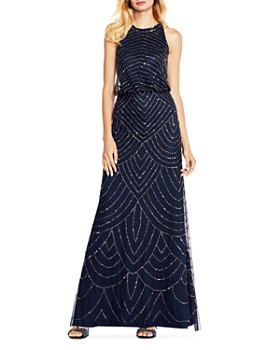 Adrianna Papell - Sequined Blouson Gown