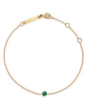 Zoë Chicco - 14K Yellow Gold Emerald Bezel-Set Bracelet