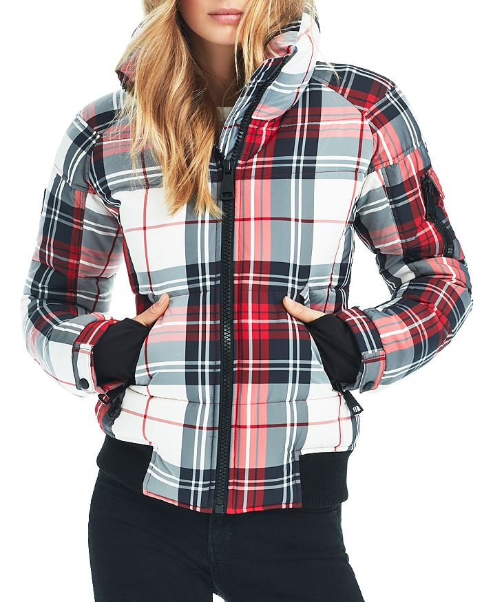 SAM. - Plaid Freestyle Down Bomber Jacket
