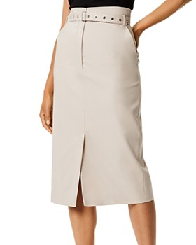 KAREN MILLEN - Belted Utility Pencil Skirt