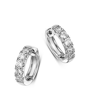 Bloomingdale's Diamond Mini Hoop Earrings in 14K White Gold, 2.0 ct. t.w. - 100% Exclusive
