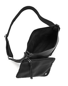 Callista - Iconic Noir Slim Leather Messenger Bag