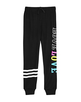 Flowers by Zoe - Girls' Love Striped Terry Jogger Pants - Big Kid