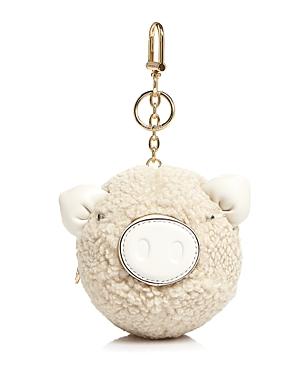 Tory Burch Pig Pom-Pom Key Fob