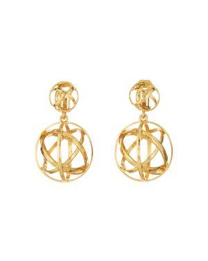Globe Clip-On Drop Earrings, Gold