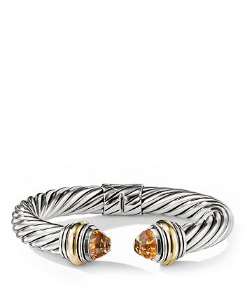 David Yurman - Cable Classics Bracelet with Citrine and 14K Gold, 10mm