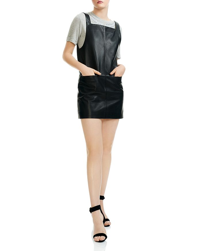 17ff01620902 Maje - Richance Faux-Leather Mini Dress