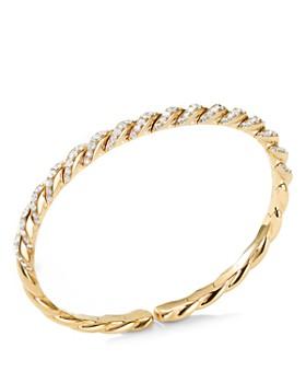 David Yurman - Paveflex Bracelet in 18K Gold with Diamonds