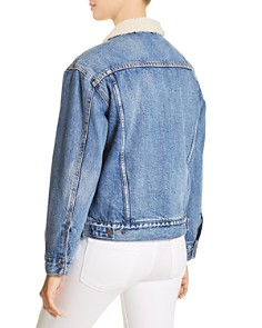 Levi's - Sherpa-Trimmed Denim Trucker Jacket