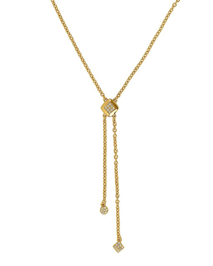 ADORE - Pave Accent Y Necklace, 16""