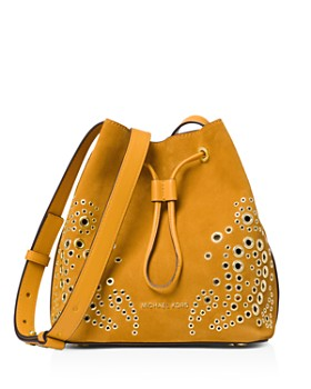 MICHAEL Michael Kors - Cary Small Suede Bucket Bag
