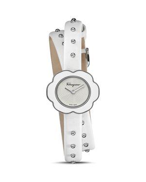 Salvatore Ferragamo Fiore White Watch, 24mm