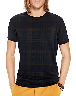 Scotch & Soda Oil Washed Plaid Tee