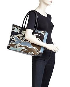 Longchamp - Roseau Galop Large Canvas Shoulder Tote