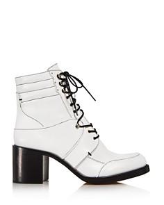 Tabitha Simmons - Women's Leo Leather Block-Heel Booties