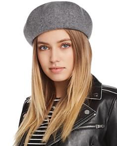 AQUA Wool Felt Beret - 100% Exclusive - Bloomingdale's_0