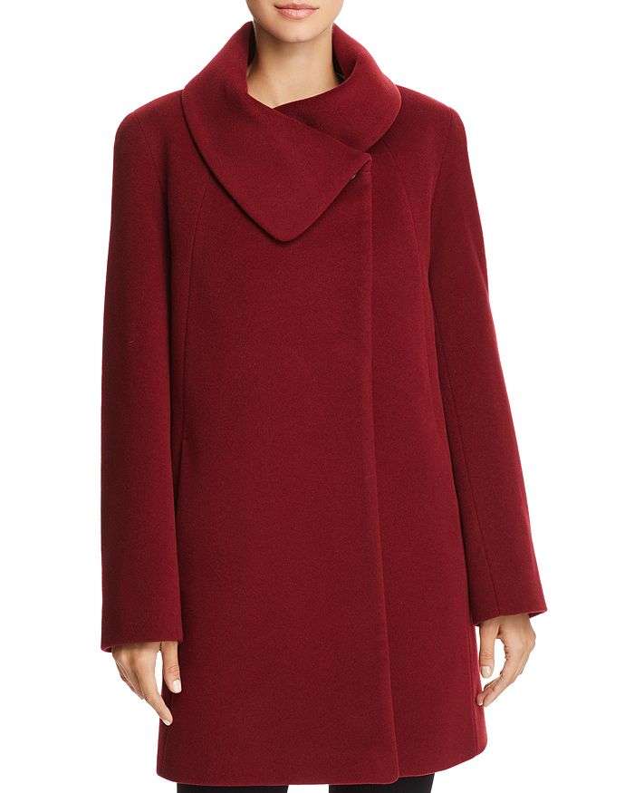 Cinzia Rocca Icons Cowl Neck Coat In Red