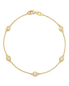 Bloomingdale's - Diamond Station Bracelet in 14K Yellow Gold, 0.70 ct. t.w. - 100% Exclusive