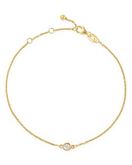 Bloomingdale's - Bloomingdale's Diamond Bezel Set Bracelet in 14K Gold, 0.10 ct. t.w. - 100% Exclusive