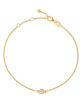 Bloomingdale's - Bloomingdale's Diamond Bezel Set Bracelet in 14K Gold, 0.10 ct. t.w. - 100% Exclusive