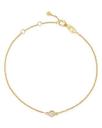 Bloomingdale's - Diamond Bezel Set Bracelet in 14K Yellow Gold, 0.10 ct. t.w. - 100% Exclusive