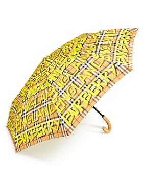 Burberry - Trafalgar Packable Marker Pen Check Umbrella