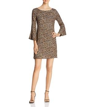 Three Dots - Leopard Bell-Sleeve Dress