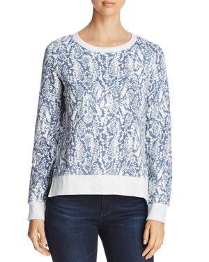 MARC NEW YORK Performance Snake-Print Cotton Sweatshirt in Heather