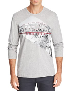 BOSS - Togn Long-Sleeve Mountain Graphic Tee