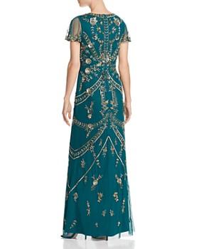 Aidan Mattox - Embellished Slit-Sleeve Gown