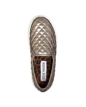 STEVE MADDEN - Girls' Quilted Slip-On Sneakers - Little Kid, Big Kid