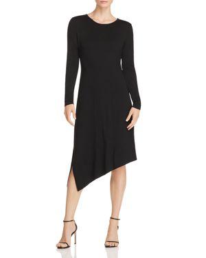 Robert Michaels Asymmetric Jersey Dress in Black