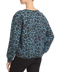 PAM & GELA - Leopard Print Asymmetric Sweatshirt