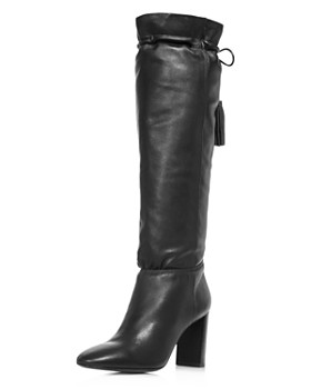 kate spade new york - Women's Hazel Pointed Toe Leather High-Heel Boots