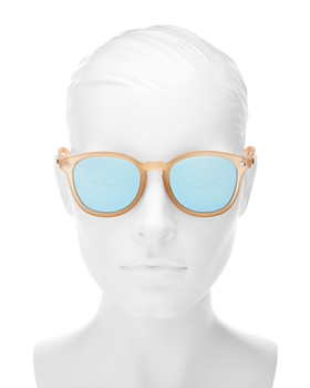 Le Specs - Women's Bandwagon Mirrored Round Sunglasses, 50mm