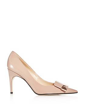 Sergio Rossi - Women's Patent Leather Pointed Toe Pumps