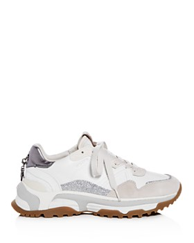 COACH - C143 Women's Mixed Media Lace Up Sneakers