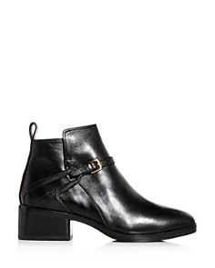 Cole Haan - Women's Etta Leather Block-Heel Booties