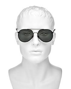 Burberry - Men's Brow Bar Aviator Sunglasses, 61mm