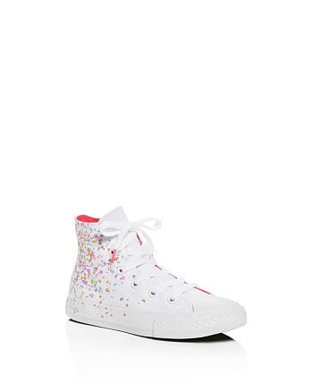 cfcf24db0f3a Converse - Unisex Chuck Taylor All Star Confetti Print High Top Sneakers -  Toddler