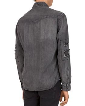 The Kooples - Destroy Regular Fit Denim Shirt