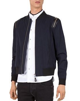 The Kooples - Slick Teddy Bomber Jacket